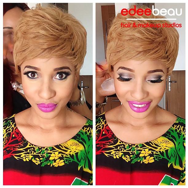London Based Makeup Artist Gives Tonto Dikeh A Stunning Makeover