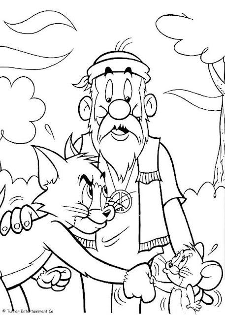Desenhos do Tom e Jerry para imprimir
