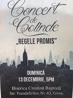 """Concert de colinde """"Regele promis"""" la Giroc - 13 decembrie 2015"""