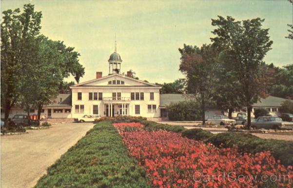 Vintage Early Linen Postcard Bay Beach Pavilion Green Bay Wisconsin 1930s