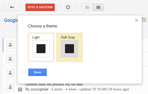google groups themes
