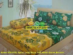 Harga Sprei Lady Rose 180 Motif Green Borneo Jual