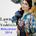 Yashfeen Lawn Midsummer 2014 | Best Embroidered Lawn 2014 for Girls