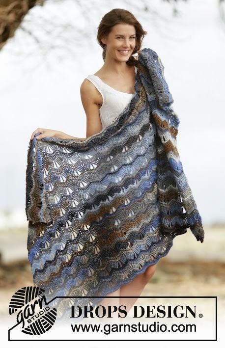 mes favoris tricot crochet mod 232 le crochet gratuit un plaid au point vague