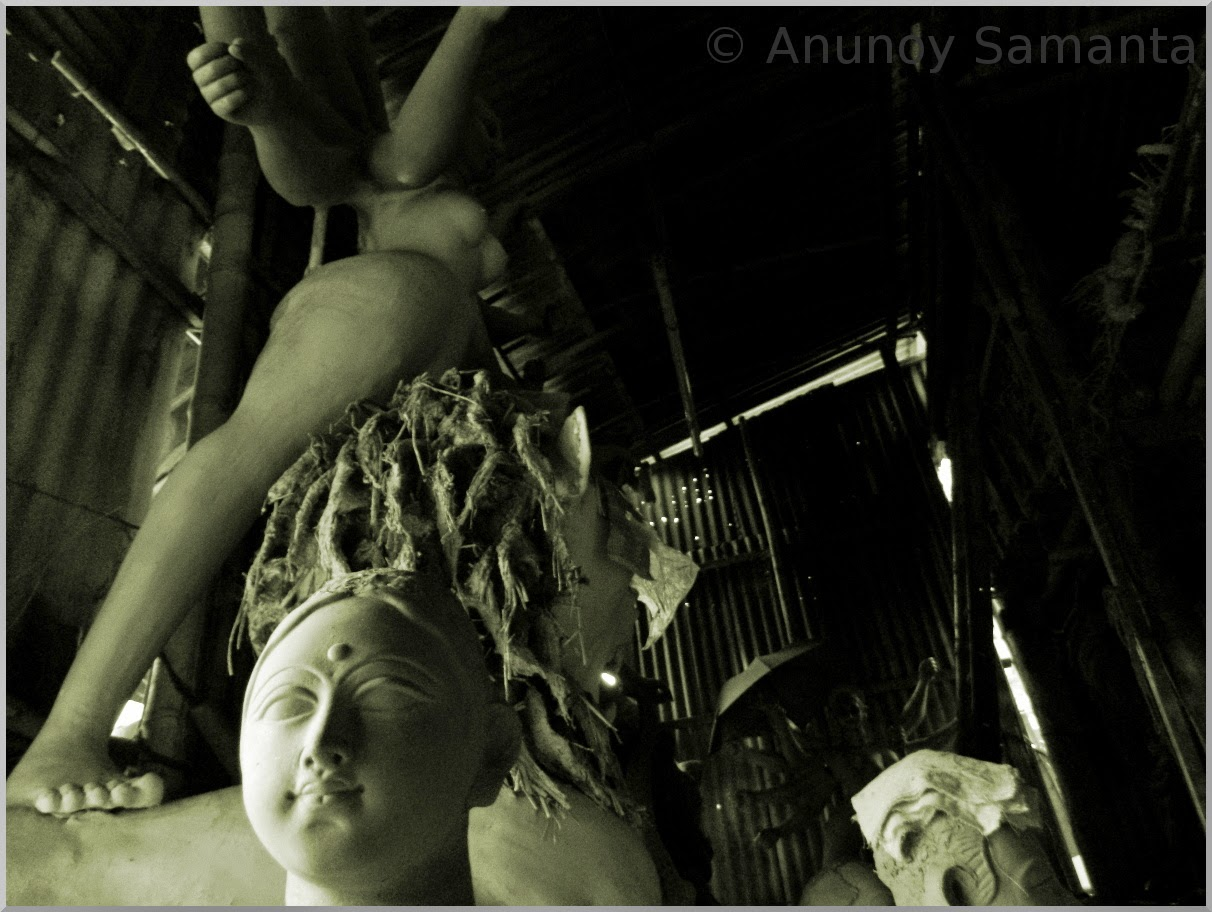 Durga Puja 2014 - Durga Idols yet to get their Vision