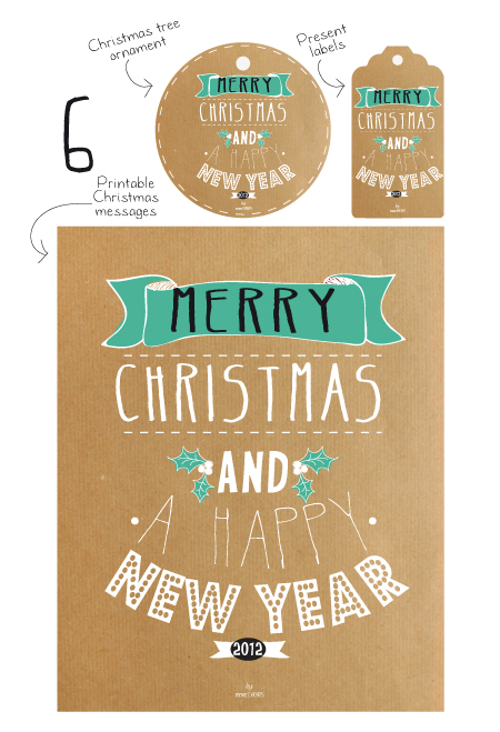 Merry Christmas and a Happy New Year printable
