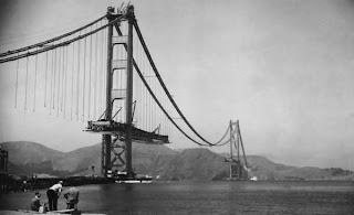 Golden Gate Bridge Photos being Built - Rare Collection