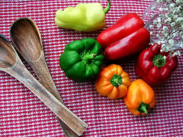 pimentos coloridos