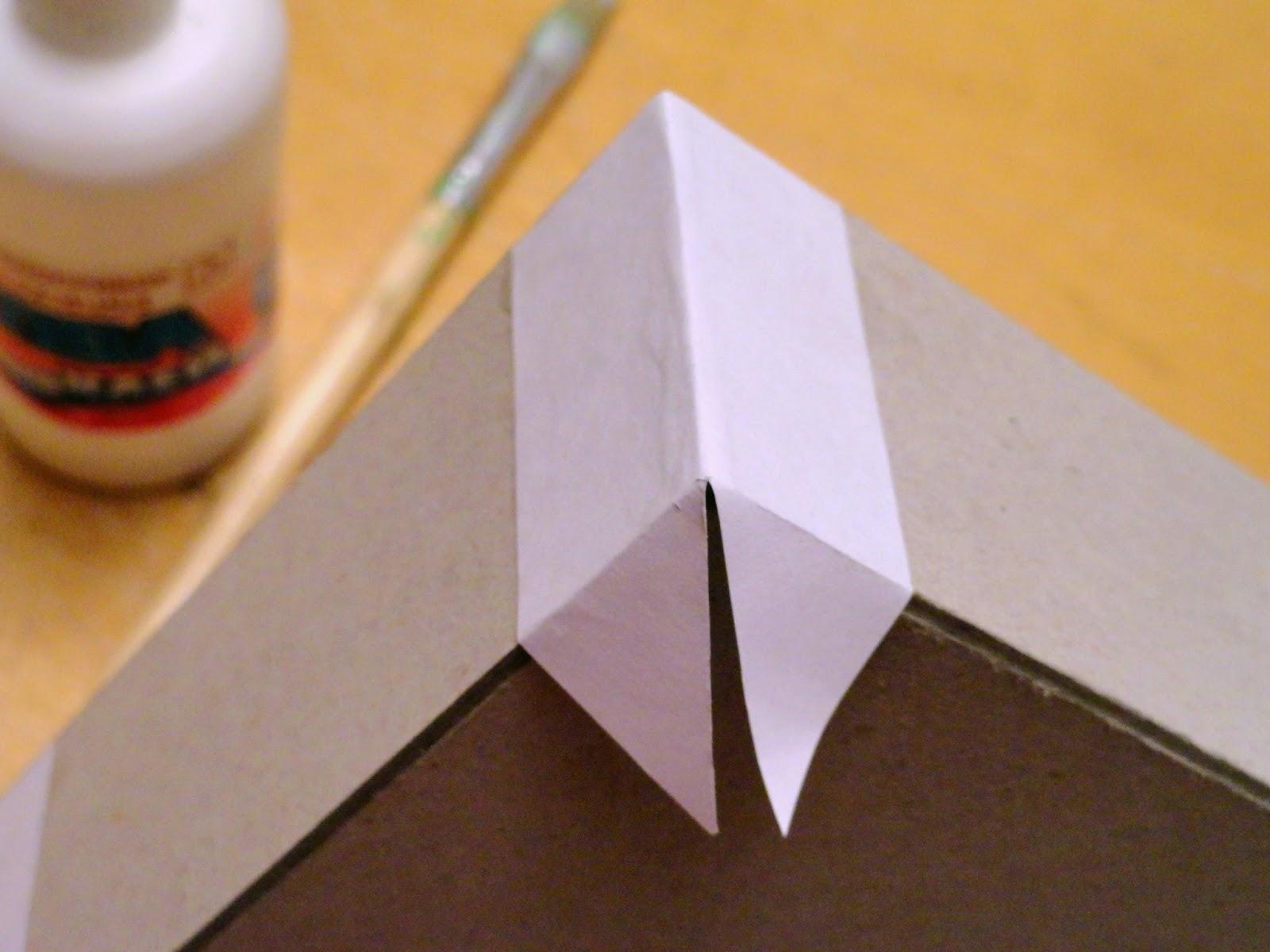 Обклеить коробку своими руками цветной бумаги6