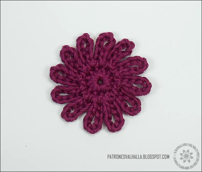 Flor de Doce pétalos a Crochet (foto-tutorial) - PATRONES VALHALLA ...