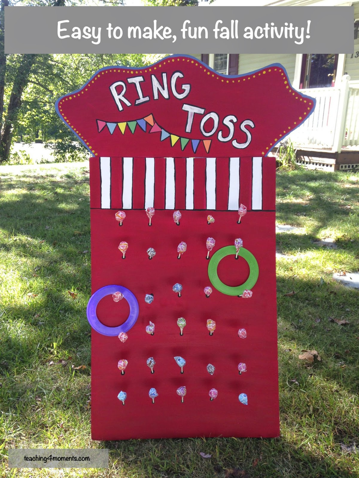 How to make an easy ring toss
