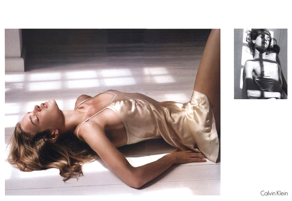Natalia Vodianova photographed by Mario Sorrenti for Calvin Klein Spring/Summer 2003 campaign
