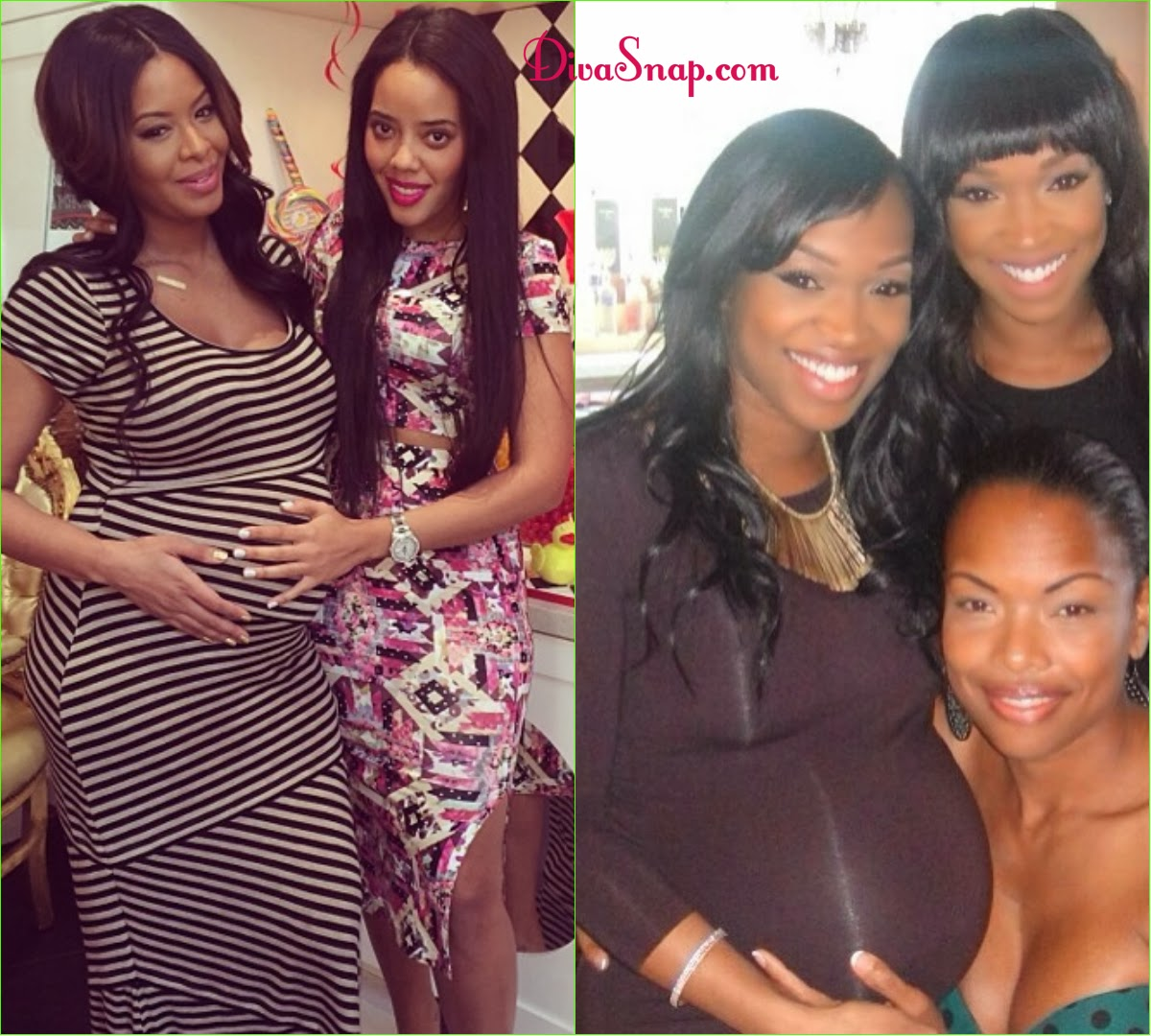 VANESSA SIMMONS & KHADIJAH MCCRAY CELEB STYLED BABY SHOWERS - DivaSnap.com