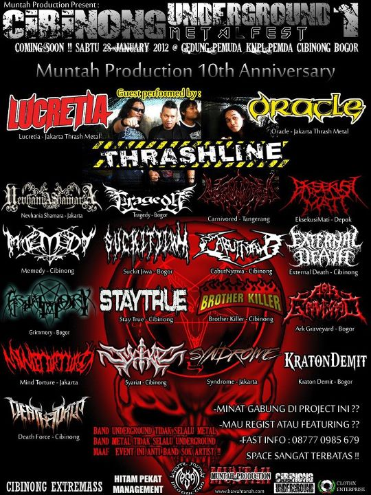 CIBINONG UNDERGROUND METAL FEST #1 Muntah Production 10th Anniversary