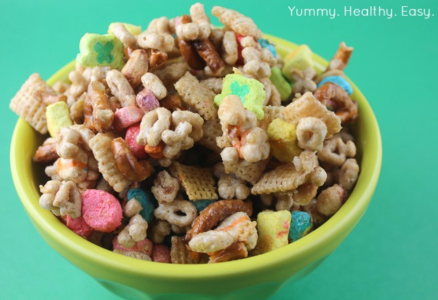 Pot o gold cereal snack mix yummy healthy easy it only takes about 5 minutes to make and is so good its a pretty addicting treat so be careful ccuart Choice Image