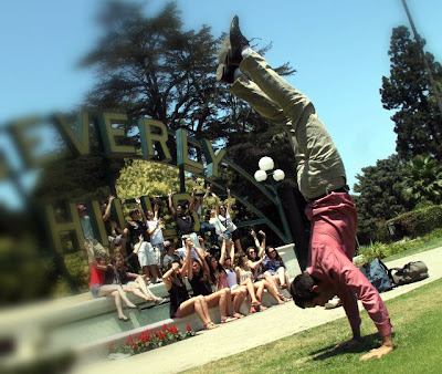 Handstand in Beverly hills is little exercise