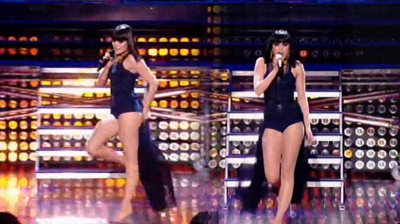 Jessie J, Walks the stage, from performance at Britain's Got Talent, 2 June 2001.