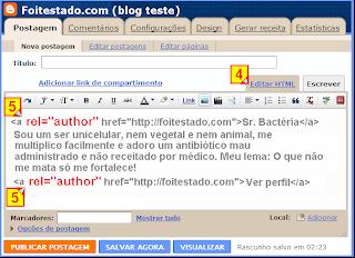 Mudar o código do gadget perfil personalizado no blogger antes de copiar