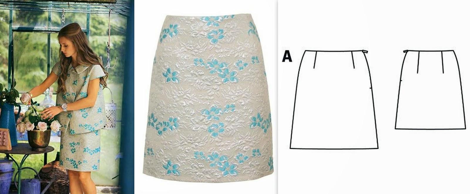 Как сшить юбку по бурде