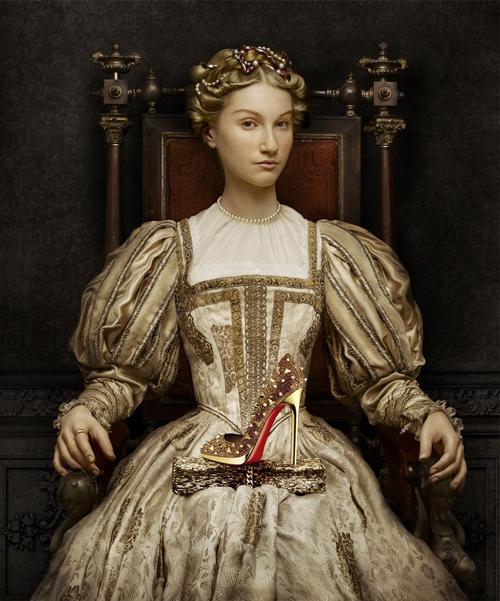 Francois Clouet Elizabeth of Austria campaña Christian Louboutin