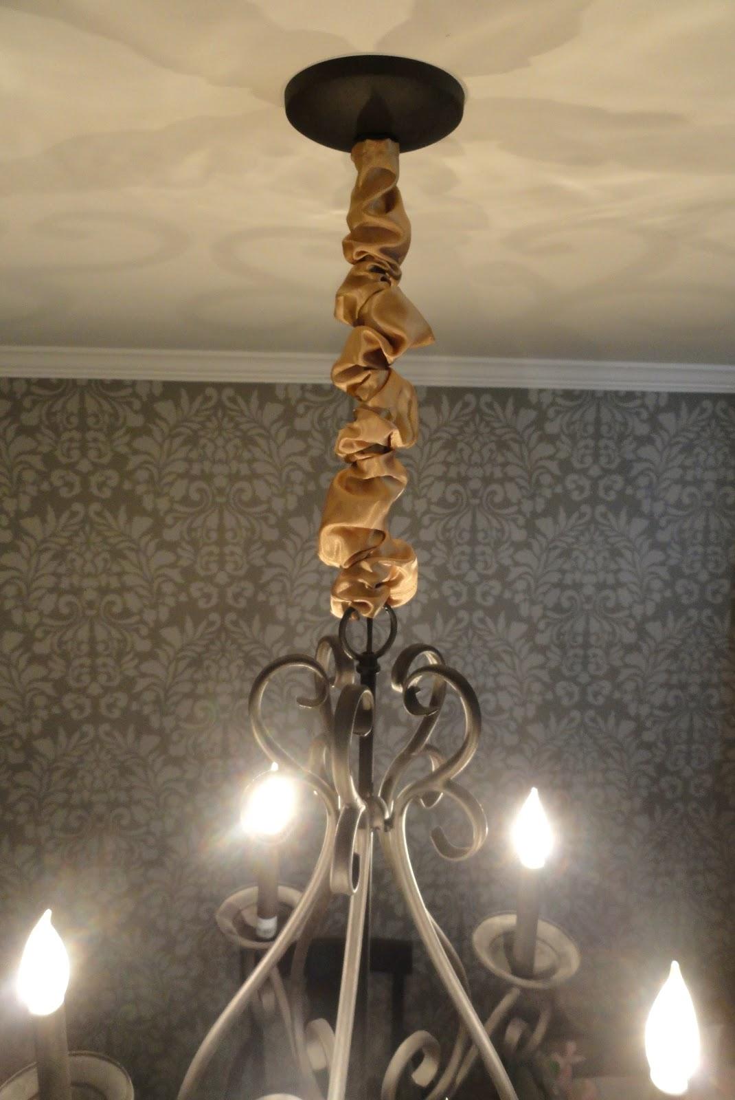 rachel 39 s nest diy chandelier chain cover