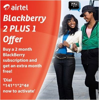 AIRTEL BLACKBERRY TWO FOR ONE PROMO