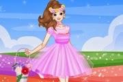 لعبة تلبيس أميرة الزهور