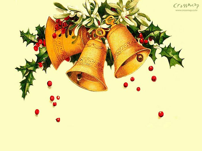 Christmas bell in christmas tree