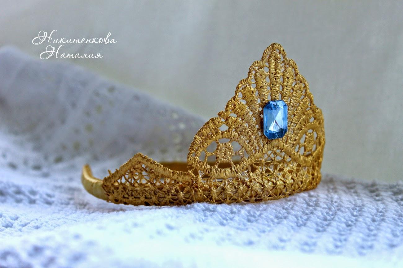 корона, Эльза, Холодное сердце, корона из кружева