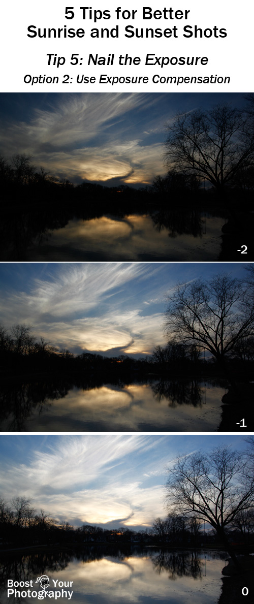 Tip 5 for Better Sunrise and Sunset Shots: Use Exposure Compensation | Boost Your Photography