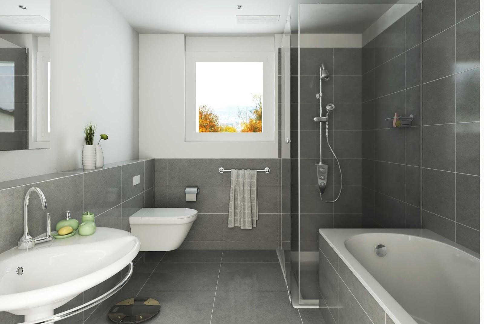 Интерьер ванной комнаты большой