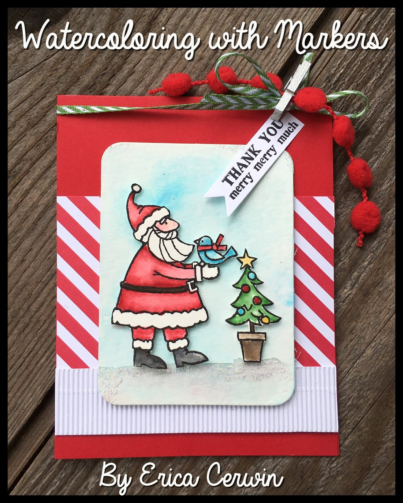 Pink buckaroo designs santas gifts watercoloring with markers video do you like the watercolor look do you have trouble achieving that look maybe you dont have very many stamp pads in todays video ill show you how you m4hsunfo
