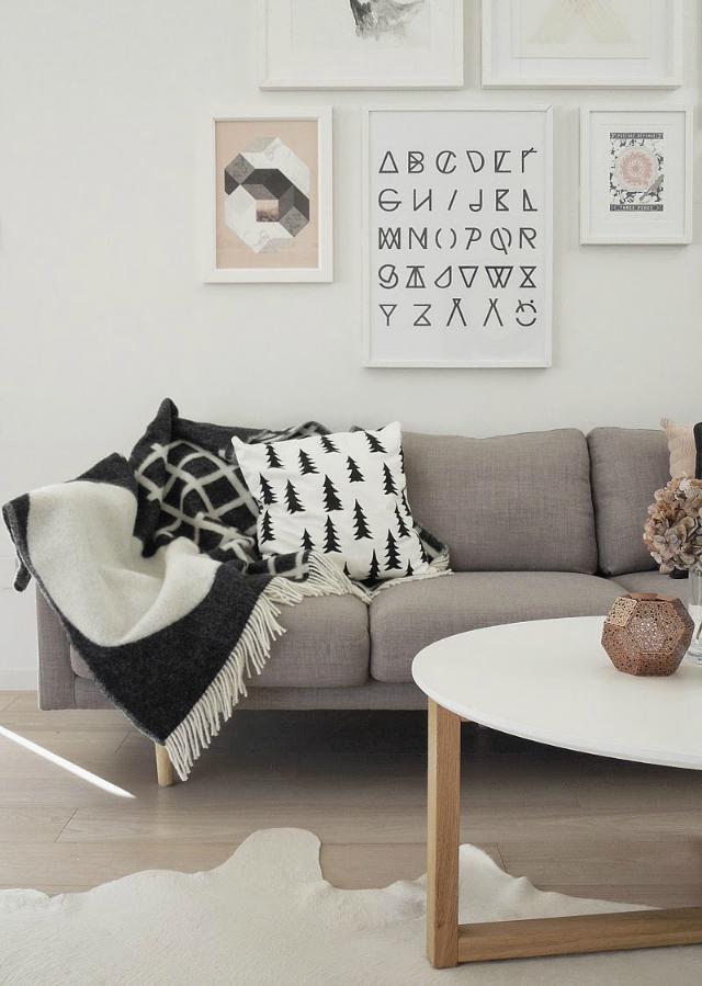 La composici n perfecta para la pared de encima del sof for Colocar cuadros encima del sofa