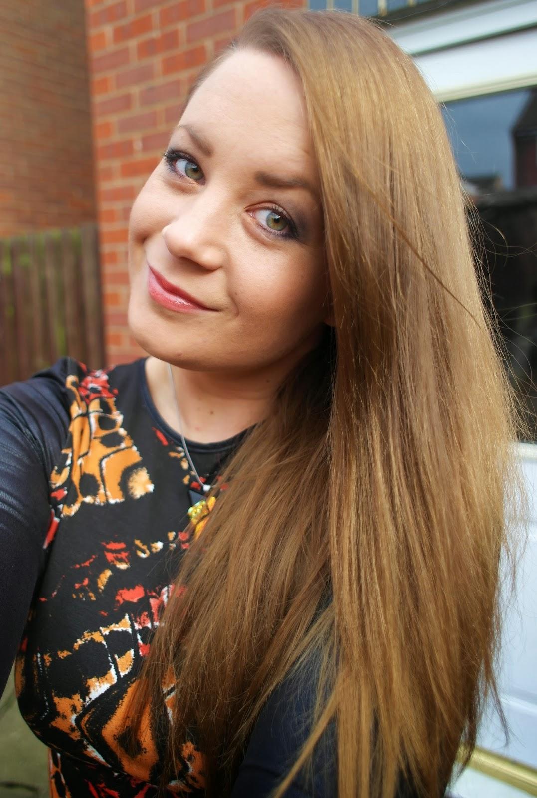 long light brown hair
