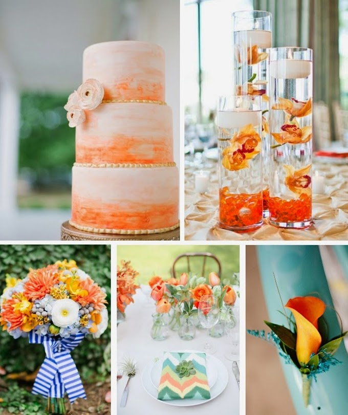 Orange Spring Wedding Color Inspiration