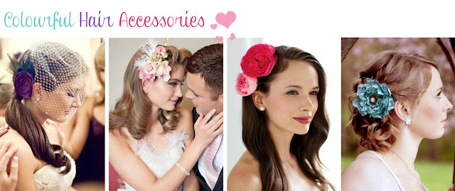 Colour Hair Accessories for Brides