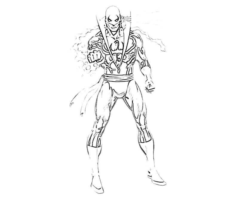 Iron fist coloring pages