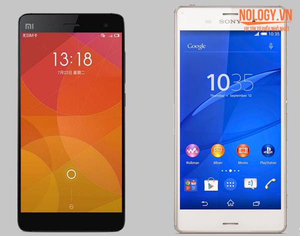 So sánh Xiaomi Mi4 và Sony Xperia Z3 Nhật Bản