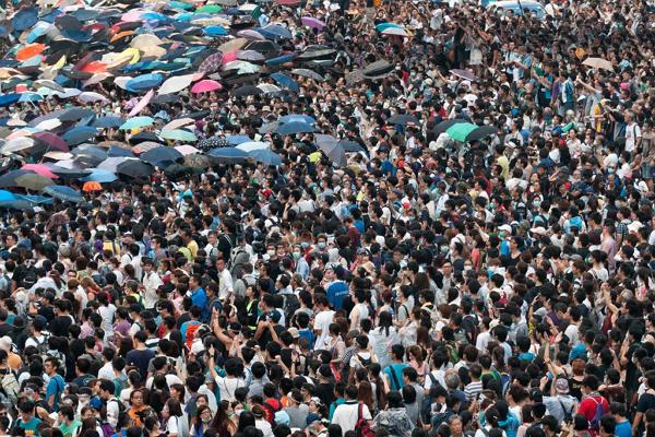 """香港""""雨伞革命""""图8"""