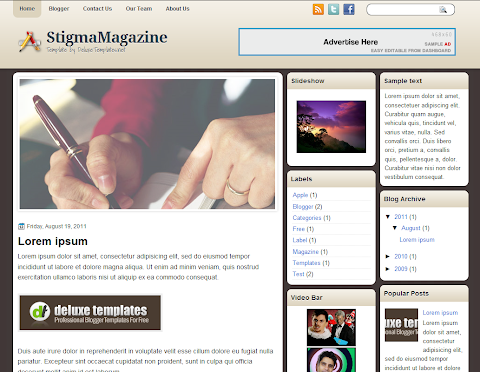 StigmaMagazine Blogger Theme