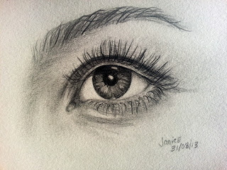 Pencil sketch of an eye