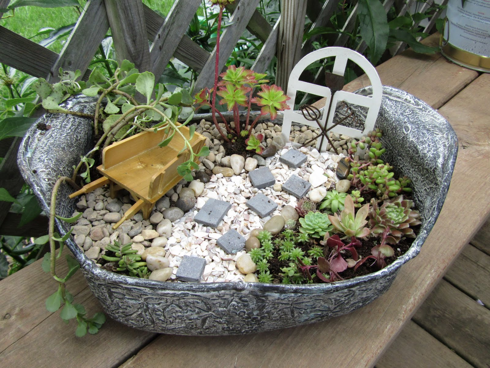 cheesehead gardening how to make the miniature gardens