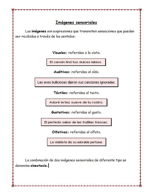 Ejemplos De Poemas Con Imagenes Sensoriales