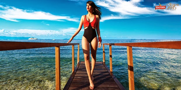 Sarah Jane Dias Bikini Photo Shoot for Kingfisher 2015 Calendar