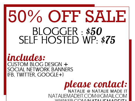 Sale Alert: Blogger and WordPress Blog Designs