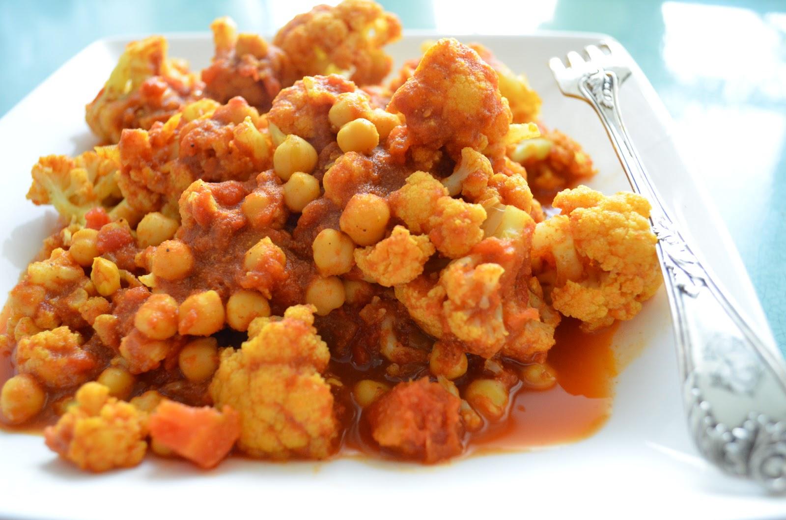 U Me In The Kitchen Curry Vegetarien Chou Fleur Et Pois Chiche