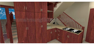 pantry dan ruang makan mungil minimalis