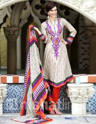New Nishat Linen Dresses Neck Designs