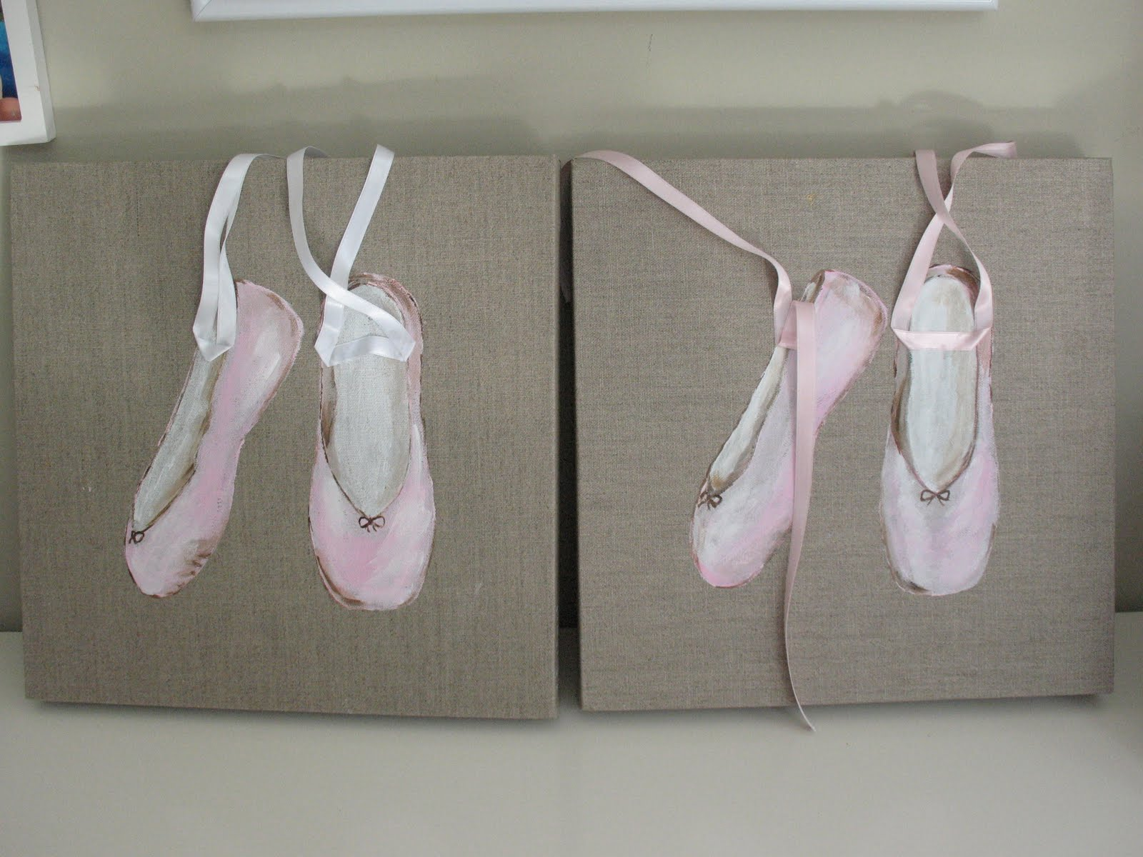 bailarinas rosa y blanco....