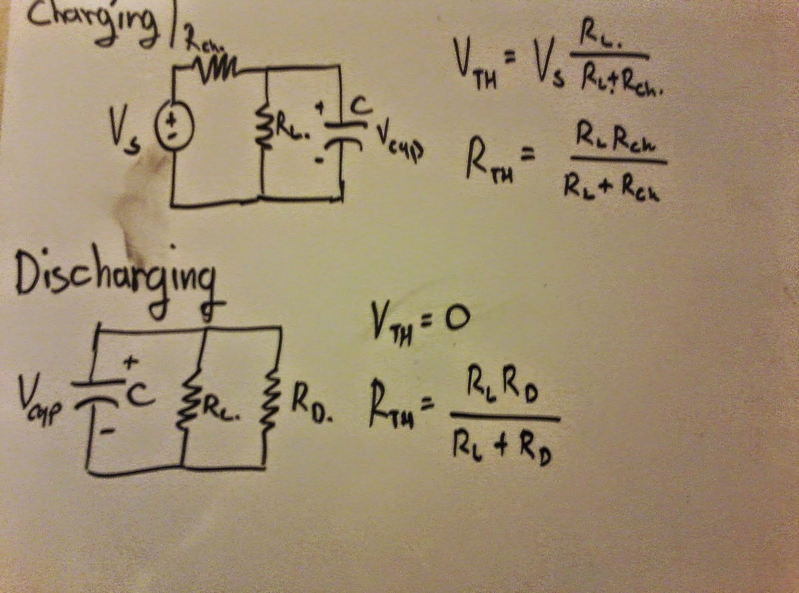 Capacitor Charging Discharging Lab Pgill Engi 44 Labs Circuit 25 Mj Of Energy Across Plates We Calculated Component Values As Following